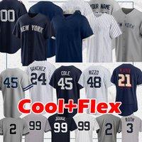 New York Yankee 99 Aaron Richter Jersey Yankee 2 Derek Jeter 45 Gerrit Cole 2020 Benutzerdefinierte Jersey Gleyber Torres Don Mattingly Babe Mariano Baseball Trikots