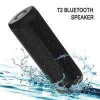 Оригинальный T2 Bluetooth-динамик водонепроницаемый портативный открытый беспроводной Mini Column Box динамик Поддержка TF Card FM стерео Hi-Fi