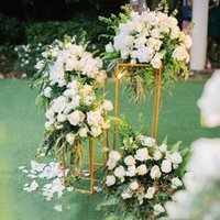 4 pcs  set wedding decoration flower column stand road lead Metal shelf Wedding stage decoration display rack 3 colors Easy to carry