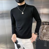 Men's Sweaters Autumn Winter Pullovers Men Clothing Casual Sweater Simple All Match Solid Slim Fit Turtleneck Knitted Pull Homme