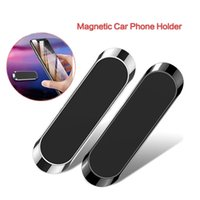 Mini Strip Shape Magnetic Car Phone Holder Stand for Smartphones 12 pro Max Wall Metal Magnet GPS Car Mount Dashboard