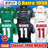 الرجعية 1998 المكسيك كأس العالم الكلاسيكية خمر لكرة القدم الفانيلة تايلاند جودة هيرنانديز 11 # بلانكو المنزل الأخضر بعيدا الأبيض الثالث blakc كرة القدم قمصان