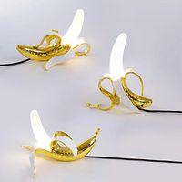Italia Seletti Banana Luci notturne Modern Soggiorno in vetro Lampade da tavolo Lampade da tavolo Camera da letto Bedside Desk Lampada Desk Home Decor Illuminazione