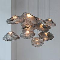 Pendant Lamps Postmodern Light Luxury Glass Nordic Creative Restaurant Personality Designer Bar Staircase Decoration Chandelier