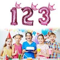 Utilizzato per la festa di compleanno Anniversary Celebrazione 32in Number Number Number Palloncini Digit Helium Foil Ballons Decor Balls