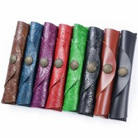 Pencil Cases Genuine Leather Roll School Case For Girl Boy Pencilcase Kawaii Canved Penal Small Cartridge Pen Bag Fountain Box