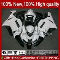 Motorcykel Fairings för Kawasaki Ninja ZX600C ZX-600 ZX 6R 600c 6 R ZX636 07-08 Bodywork 10No.10 ZX-636 600 CC ZX6R 07 08 ZX600 ZX 636 ZX-6R 2007 2008 Bodys Kit Pearl White