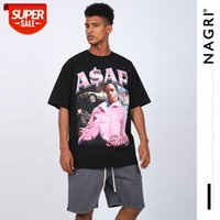 Nagri men's HOMAGE TEES tribute to characters short-sleeved T2PAC ASAP ROCKY T-shirt #sK5g