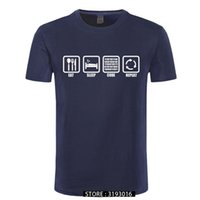 CCCCSPorteat 슬립 코드 반복 선물 괴짜 프로그래머 해커 티셔츠 셔츠 남성 코튼 짧은 소매 티셔츠 탑 Camiseta