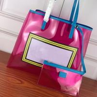 Sac de fourre-tout transprente sacs à main de grande taille sacs à main PVC sacs à bandoulière transparente de haute qualité lettre de mode sacs à la main à l'intérieur de la gelée Sac shopper