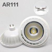 Haute qualité Ultra Brillant AR111 20W COB LED Spotlight Ar111 QR111 G53 LED ampoule lumpable lumpable AC 220V