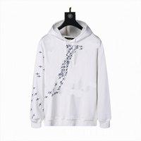 Erkekler Euramerican Moda Tişörtü Baskı Kapalı Marka Hoodies Kamuflaj Hırka Klasik Sonbahar Ve Kış İnce Peluş Erkek Bayan Ceket Streetwear Beyaz Hoodie