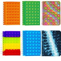 Fidget toys note Silicone cover notebook Reliver Stress Rainbow Push Bubble Antistress notebooks to Relieve Autism