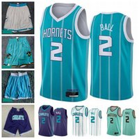Mens 2020 2021 Draft Pick 2 LaMelo Ball Jersey CharlotteHornetsJersey Mint Green Blue White New Edition City Basketball Shorts
