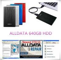 2020 Hot alldata V10.53 auto reparo macio-ware e All carro dados suave-ware em 640GB HDD para carros e caminhões USB 3.0
