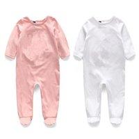Alta qualità Retail Newbron Baby Pagliaccetti Ricamo manica lunga Set di cotone Baby Junmpsuit Girls Neonato Ragazzina Vestiti