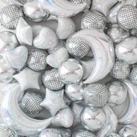 22 인치 4D 라운드 알루미늄 호일 풍선 거울 금속 풍선 생일 파티 웨딩 베이비 샤워 결혼 장식 용품