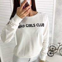 Bad Girls Club Sweatshirt Mujer Marca Moda Casual Otoño Invierno Sudaderas con capucha Fleece Traje largo Sudadera con capucha suelta Sudadera