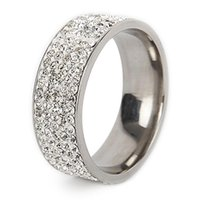 Cluster Rings Titanium For Men Band Simulated Diamonds Wedding #5