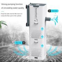 Bomba de filtro de acuario 4 en 1 Tanque de peces Sumergible Aire Oxígeno Bomba interna Aquarium Air Wave Powerhead