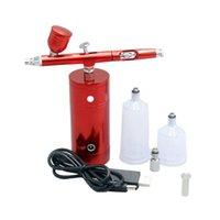 Nail Art Kits Airbrush Set Portable Mini Electric Spray Gun Kit Action Air Pump For Painting Model Tattoo