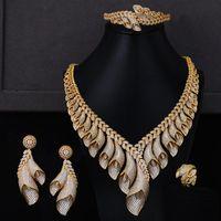 Earrings & Necklace GODKI Bridal Jewelry Sets Noble Bracelet Ring Wedding Engagement Dinner Party Parure Bijoux Femme