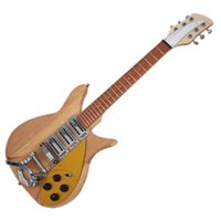 Factory Outlet-6 Strings Natural Electric Guitar with Small Tremolo,Short Scale Length