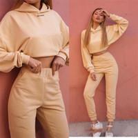 여성용 Tracksuits 조깅 슈트웨어 슈트 복장 두 조각 세트 Luxuty 숙 녀 조깅 솔리드 컬러 4 스타일 의류 긴 소매 운동복