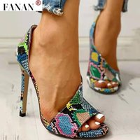 Summer Femmes High Talons Sandales Serpentine Open Toe Dames Pompes Plate-forme Stiletto Chaussures de fête Zapatos Mujer Chaussure Femme
