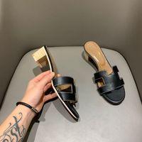 2021 Sandálias de salto alto de luxo femininas, h desenhista chinelos, elegante praia flip flops tamanho 35-42