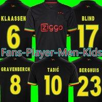21 22 AJAX Bob Marley Maglie da calcio TADIC BERGHUIS HALLER Terzo kit nero BLIND PROMES NERES CRUYFF KLAASSEN GRAVENBERCH 2022 maglia da calcio uomo bambini set uniformi