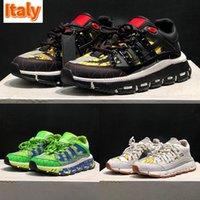 أعلى رجل عارضة أحذية إيطاليا تريكو حذاء أسود أبيض طباعة عميق الأزرق الأخضر رمادي الفضة الذهب اللثة الفاخرة الرجال النساء مصمم المدربين