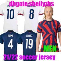 2021 Соединенные Штаты Футбол Футбол 2022 Пулис Едлин Брэдли Мужские Женщины Национальная команда Wood Dempsey AltiDore Usmnt Kity Kit Футбольная форма