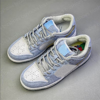 Sean Cliver X Düşük Pro QS YY Tatil Özel Ayakkabı Beyaz Mavi Altın Kadın Rahat Ayakkabılar Eğitmenler Sevgililer Günü Paten Kurulu Sneakers