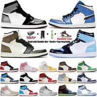 2021 جديد الفضة تو الجامعة الأزرق الداكن موتشا J1 1 ثانية رجالي أحذية كرة السلة 1 تويست UNC لاكي أخضر فولت الذهب إمرأة أحذية رياضية