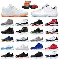 Jordan's Basketball shoes Air Jordan Jorden 11 11s Mens Retro Jumpman Low Citrus Legend Blue Cool Grey High Concord Space Jam XI Men Women Designer Sneakers With Box