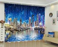 ستارة الستائر Babson Light City 3D الطباعة الرقمية DIY المناظر الطبيعية PO متقدم مخصص