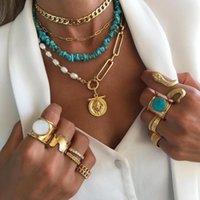 Collane pendente Vedawas Bohemian Style Colorato Colorato Accessori perline in metallo Chain Collana di coppia per le donne 2021 Set di moda all'ingrosso