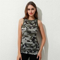 Women's Tanks & Camis Ladies Fashion Camouflage Printed Tank Tops Summer For Female Sexy Slim Round Neck I-shaped Vest