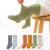 Baby Girl Boy Sock Kid Goddler трубка длинные носки новорожденные хлопчатобумажные кладки середины высоты на коленях дышащие нашивки