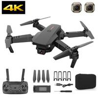 بدون طيار المهنية مع الكاميرا المزدوجة HD 4K / 1080P / 720P WIFI FPV زاوية واسعة foldablerc الطائرة الارتفاع عقد quadcopter selfie