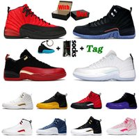 Nike Air Jordan Retro 12 Basketball Schuhe für Männer Jordans Jumpman 12s Low Easter XII High Utility Flu Game FIBA University Gold Gym Red Herren Damen Sport Sneakers