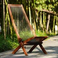안뜰 벤치 2021 톱 판매자 고전 디자인 휴대용 접이식 편안한 의장 편안한 나무 갑판 의자