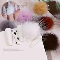 Carino Furball Nail Art Decorations for Women 2021 Moda fai da te chiodi Accessori per la progettazione manicure