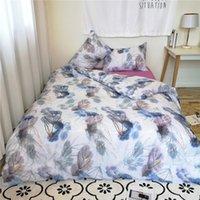Bedding Sets Customizable Blue Home Textile 3pcs 2pcs Quilt Cover Set Flower Pastoral Style
