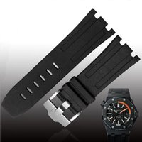 ROLEX JAWODER Watchband Man 28mm Black Red Orange Blue Gray Green Yellow Silicone Rubber Diver Watch Band Strap Pin Buckle for ROYA KSC