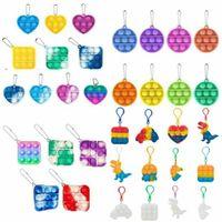 New Mini Push Bubble Sensory Toy Autism Needs Squishy Stress Reliever Toys Adult Child Funny Anti-stress It Fidget Keychain DHL Shipping CJ05