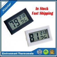 Black / Bianco FY-11 Mini Digital LCD Ambiente LCD Termometro Igrometro Misuratore di temperatura di umidità in camera Frigorifero