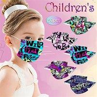 wholesale Christmas Disposable 3 layers Kids fashion mask  dinosaur Designer children Face Masks Non-Woven Anti-Dust top quality