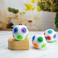 Criativo Esférico Magia Arco-íris Bola De Plástico Puzzle Crianças Educacional Aprendizagem Toriça Fidget Cube Brinquedos Para Crianças FY2505